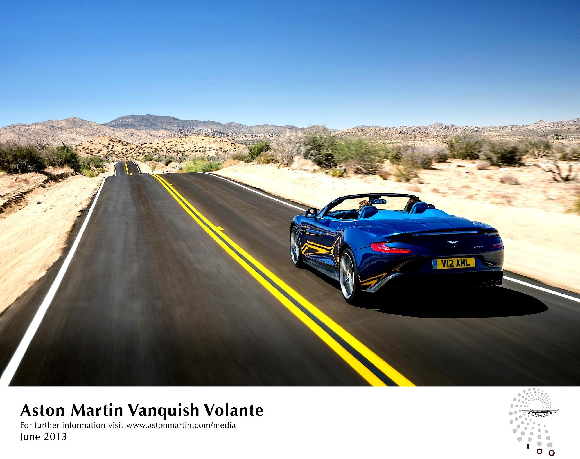 Aston martin на пустынной дороге бесплатно
