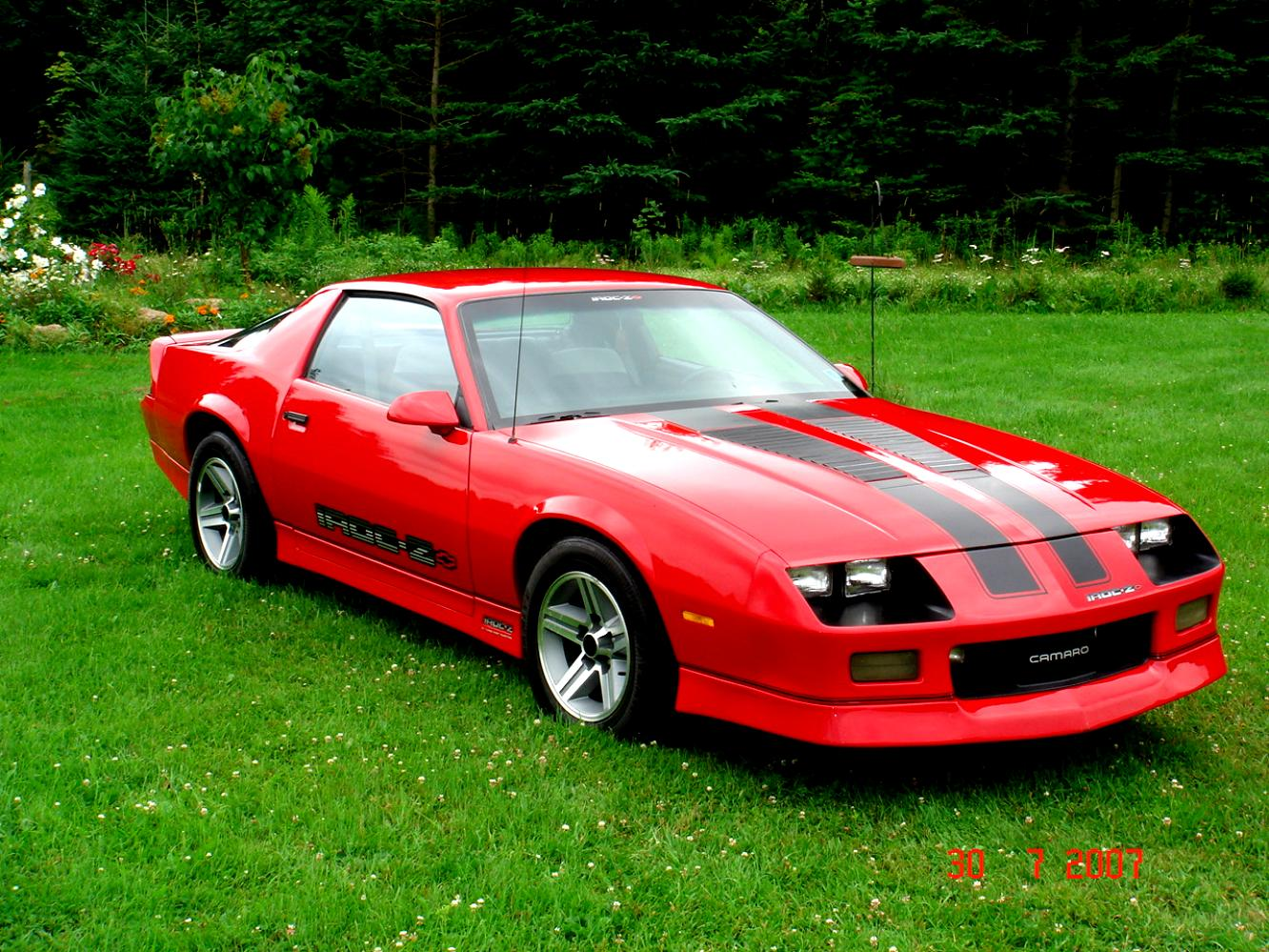 Chevrolet Camaro Iroc Z28 1984 On Motoimg Com