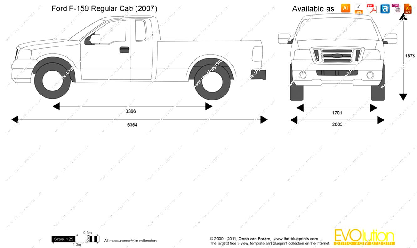 ford f150 blueprints 2015 ford f150 supercrew standard box pickup truck drawings ford f150 2017