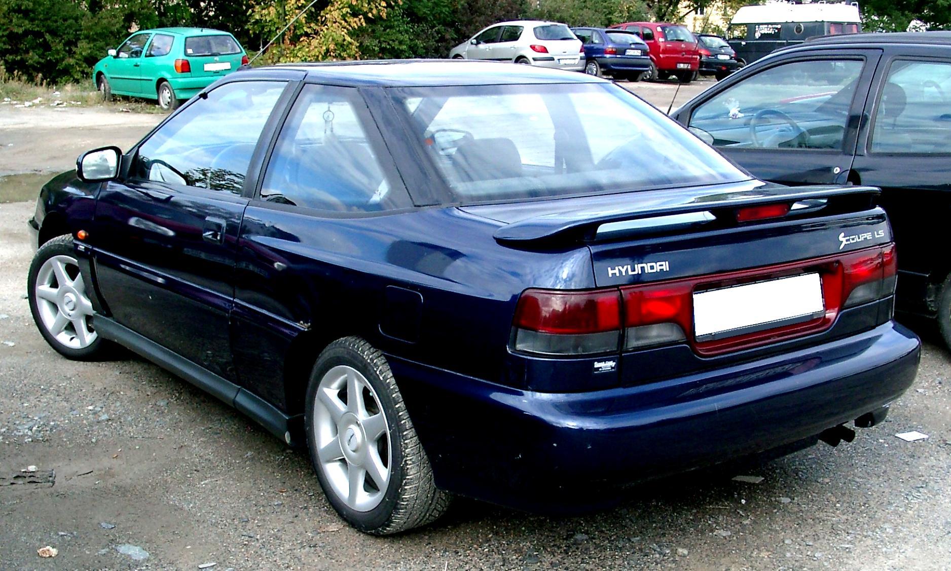 Hyundai scoupe 1990