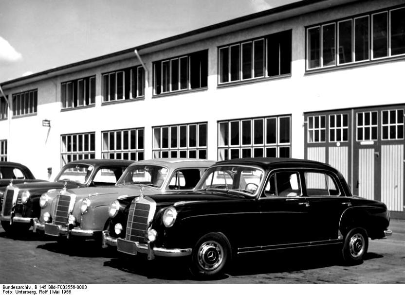Mercedes benz ponton coupe w180 128 1956 on for Mercedes benz ponton
