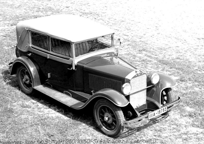 mercedes benz typ stuttgart 260 cabriolet a w11 1929 on. Black Bedroom Furniture Sets. Home Design Ideas